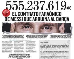 【梅西合约】球王跨界声援:巴萨自己同意的合同,责怪梅西太没道理